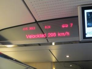 Velocidade que o trem atinge